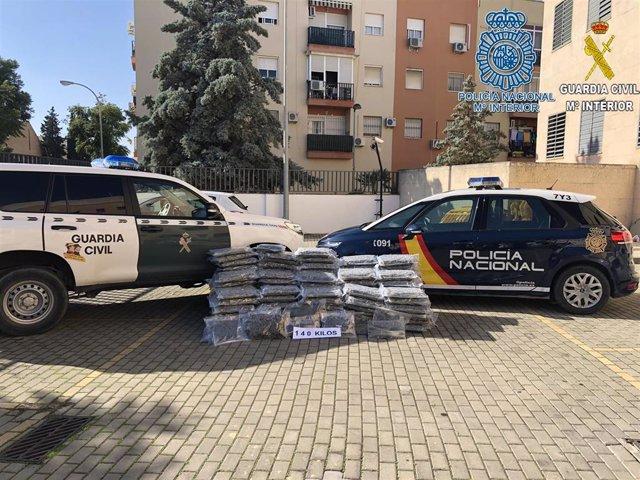 Operación Ángel, en Dos Hermanas (Sevilla), contra el tráfico de marihuana