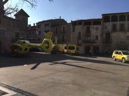 Rebajan a nueve los heridos en la explosión en la Festa del Pi de Centelles