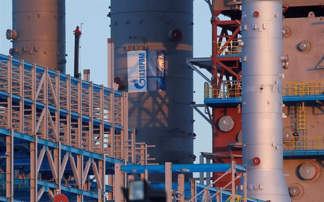 Una fábrica de la empresa rusa de gas Gazprom situada a las afueras de la ciudad de Svobodny, en el sureste de Rusia.