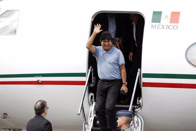 El expresidente de Bolivia Evo Morales a su llegada a Ciudad de México el pasado 12 de noviembre.