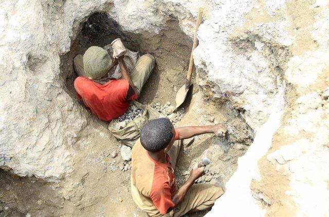 Mina de cobalto en el sur de República Democrática del Congo
