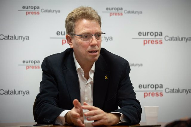 El secretari d'Organització del PDeCAT i diputat de JxCat al Congrés Ferran Bel durant una entrevista d'Europa Press