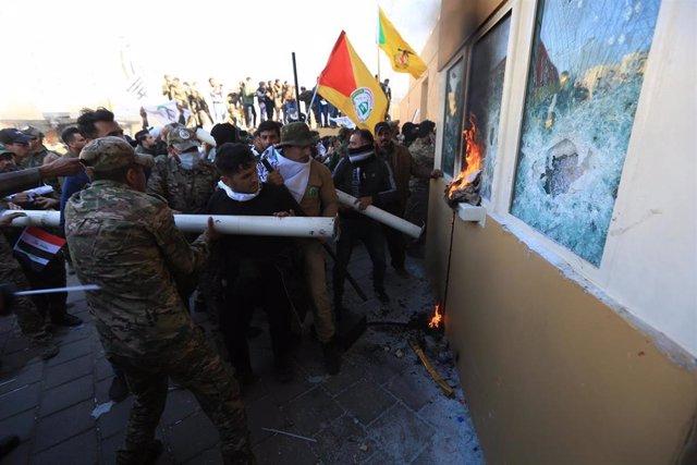 Disturbios en torno a la Embajada de Estados Unidos en Bagdad, Irak