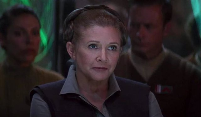 Carrie Fisher como Leia en Star Wars