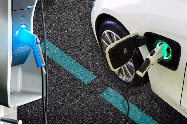 Cargador para coches eléctricos.