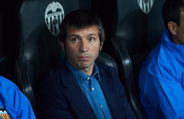 Albert Celades, entrenador del Valencia CF.