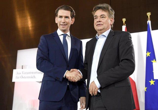 Sebastian Kurz y Werner Kogler