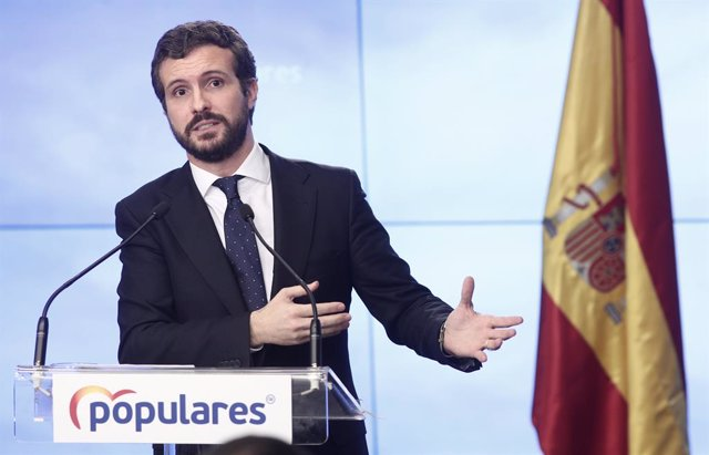 El president del Partit Popular, Pablo Casado, en una imatge d'arxiu