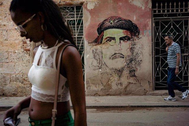Mural del Che Guevara en La Habana
