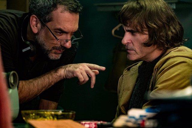 Todd Phillips y Joaquin Phoenix en el rodaje de Joker