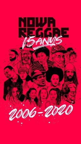 Cartell commemoratiu del 15 aniversari del festival Nowa Reggae
