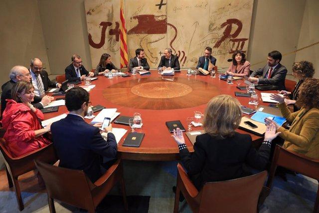El president de la Generalitat, Quim Torra, presideix el Consell Executiu del 17 de desembre de 2019.