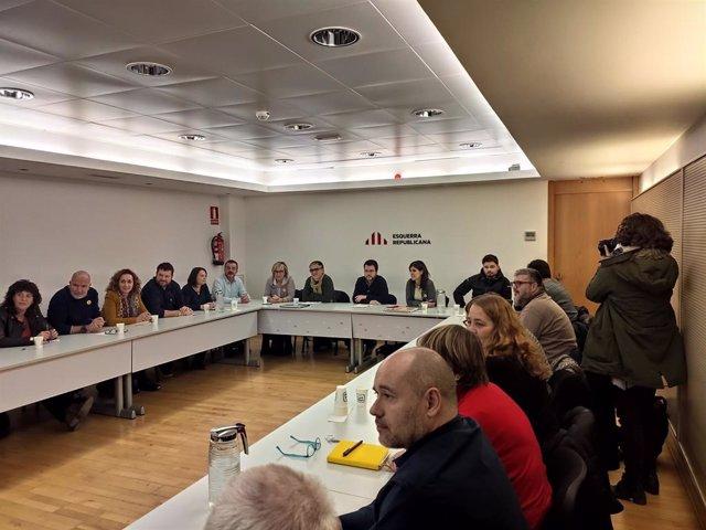 Recent reunió de l'Executiva d'ERC