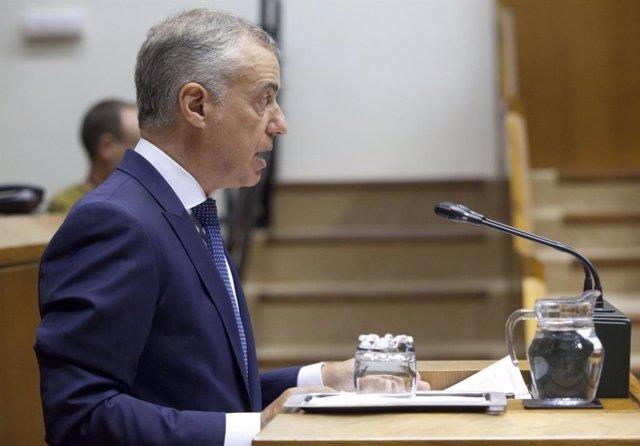 El lehendakari, Iñigo Urkullu, al Parlament Basc