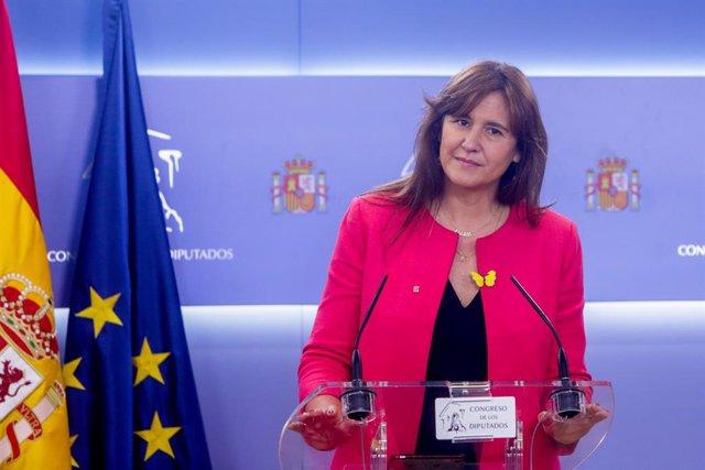 La portaveu del Grup Junts per Catalunya al Congrés dels Diputats, Laura Borràs