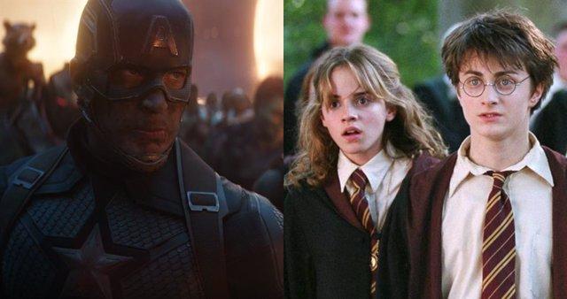 Capitán América y Harry Potter, ambos hérores de sus propios universos