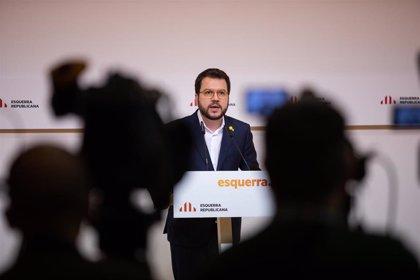 """Pere Aragonès llama a una respuesta """"amplia"""" del Parlament en apoyo a Torra que incluya al PSC"""