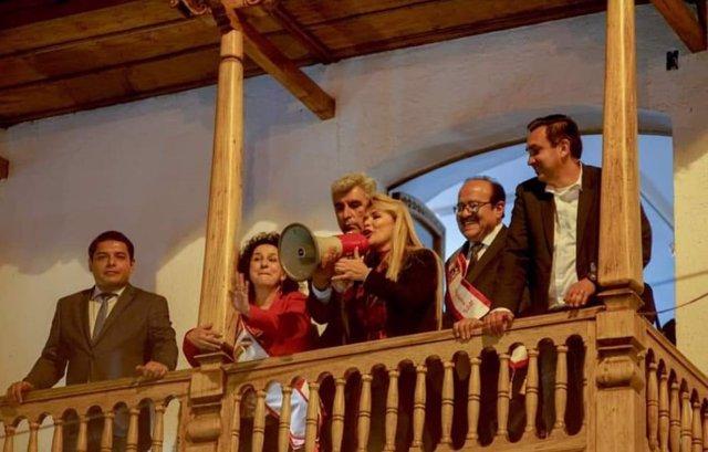 La autoproclamada presidenta de Bolivia Jeanine Áñez