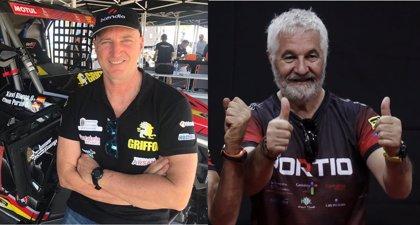 Los pilotos cántabros Chus Puras y José Luis Peña, en la línea de salida del Dakar 2020