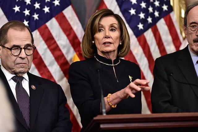 Imagen de la presidenta de la Cámara de Representantes de Estados Unidos, Nancy Pelosy.
