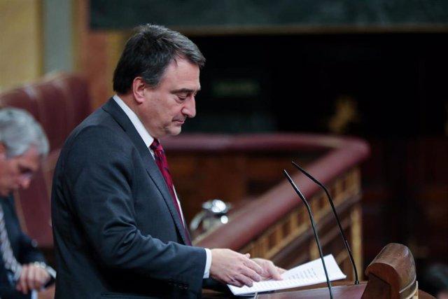 El portavoz del Partido Nacionalista Vasco (PNV) en el Congreso de los Diputados, Aitor Esteban