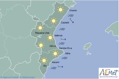 El primer domingo del año llega con niebla en el interior de la Comunitat y temperaturas en ascenso