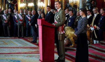 El Rey preside este lunes la Pascua militar, un día antes de la segunda votación de investidura de Sánchez