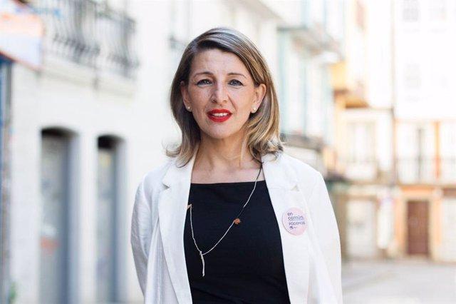 Yolanda Díaz, candidata al Congreso por la provincia de Pontevedra de En Común Unidas Podemos