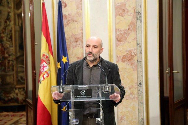 El diputat del Bloc Nacionalista Galego (BNG), Néstor Rego