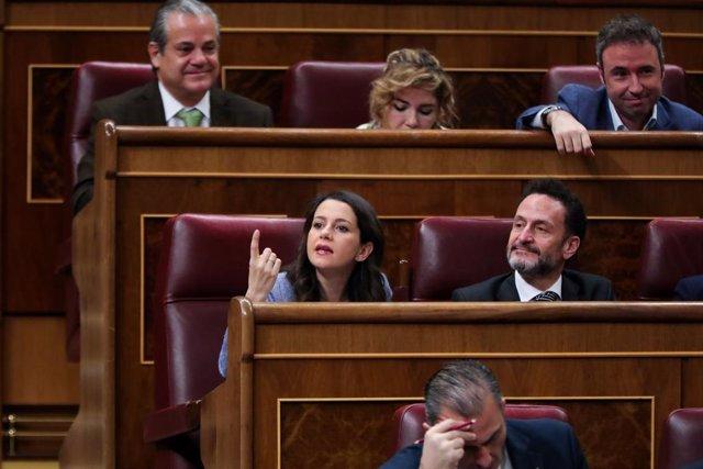 La portaveu de Ciutadans al Congrés dels Diputats,  Inés Arrimadas.