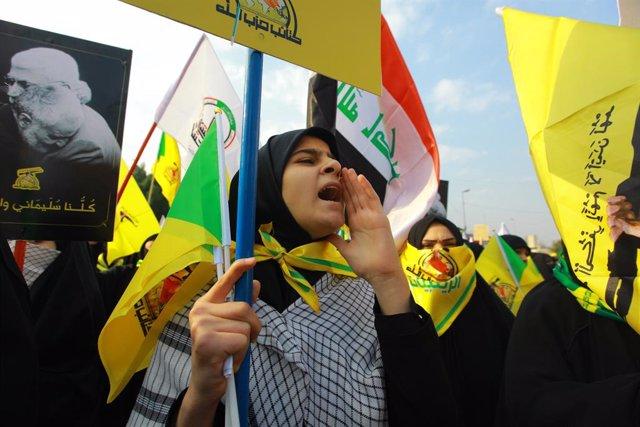 Manifestació a Bagdad
