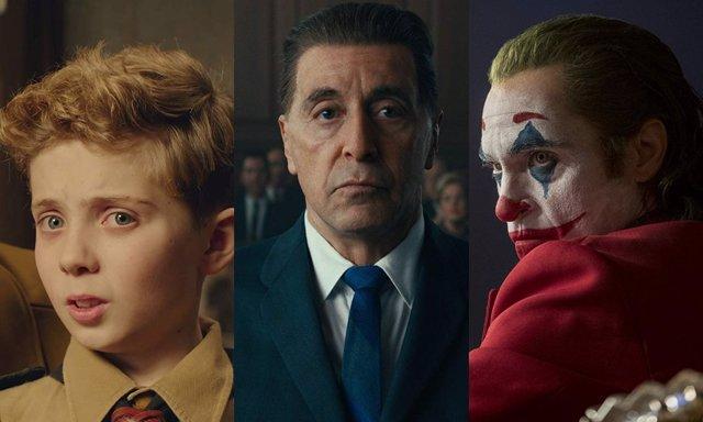 Jojo Rabbit, El irlandés y Joker son tres de las películas nominadas