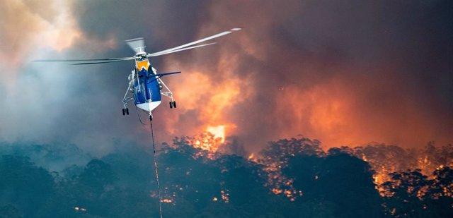 Imatge d'un incendi a Austràlia.
