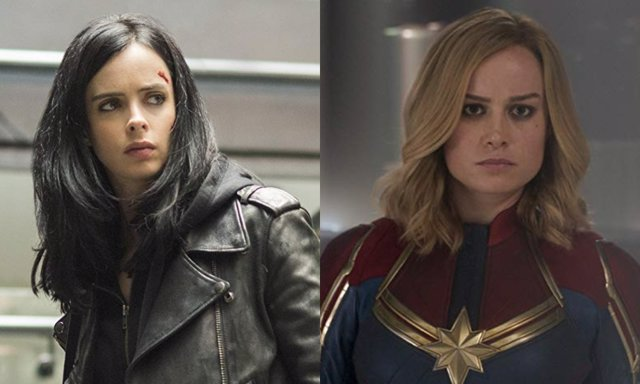 Jessica Jones y la Capitana Marvel