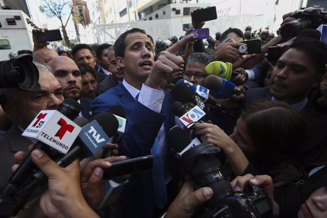 El autoproclamado presidente encargado de Venezuela, Juan Guaidó.