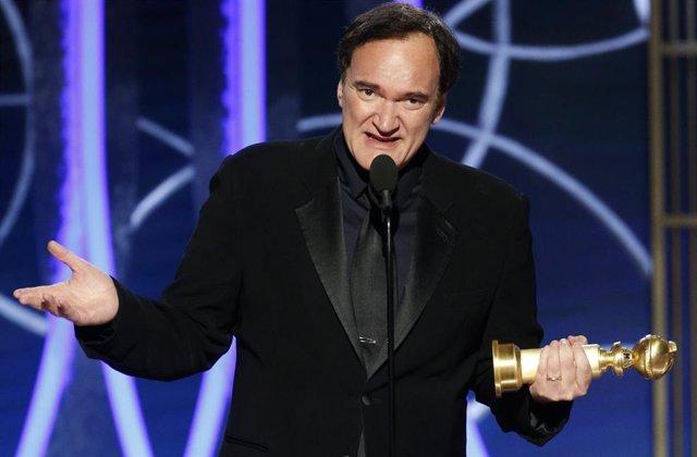Quentin Tarantino en los Globos de Oro 2020
