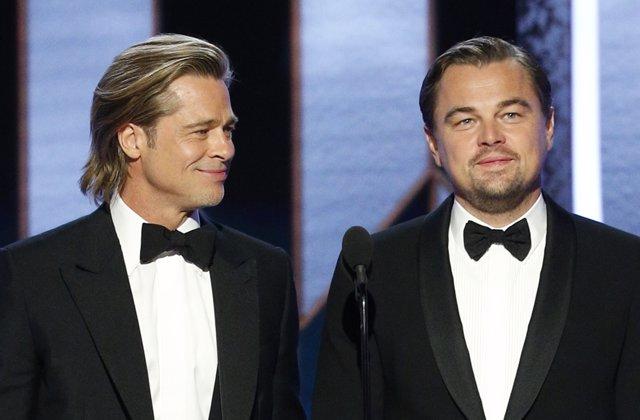 Brad Pitt se ríe del final de Titanic y de Leonardo DiCaprio en los Globos de Oro