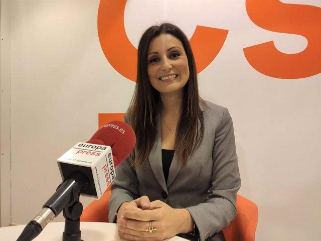 La líder de Cs a Catalunya, Lorena Roldán, en una entrevista d'Europa Press