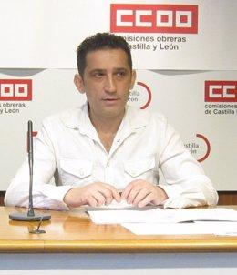 Imagen de archivo del secretario general de CCOO en Castilla y León, Vicente Andrés.