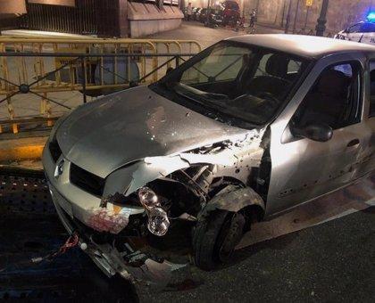Un joven da positivo tras sufrir un accidente en Valladolid y colisionar con 5 vehículos aparcados