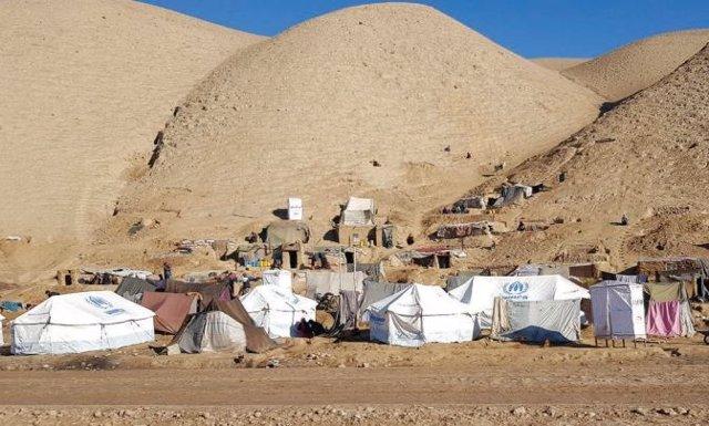 Campamento de desplazados en la provincia de Badghis, en Afganistán