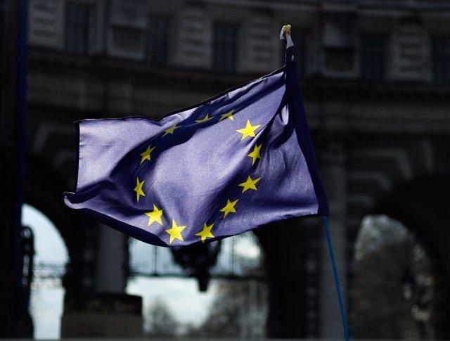 Foto de archivo de una bandera europea