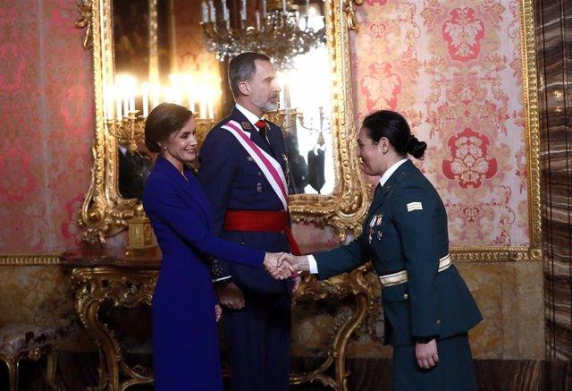 El Rey Felipe y Letizia en la Pascua Militar de 2020