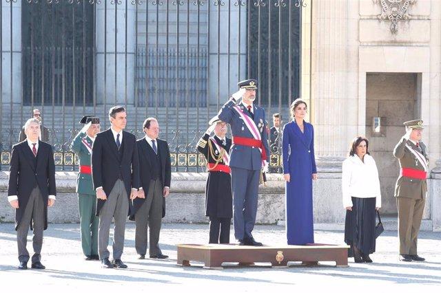 El Rey Felipe y Letizia en la Pascua Militar
