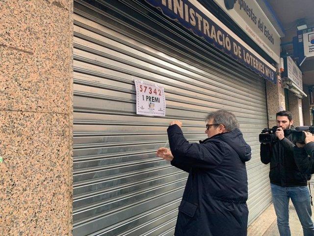 Administración de Lleida que ha repartido el 'Gordo' de 'El Niño'.