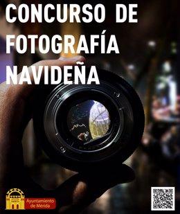 Cartel del Concurso de Fotografía Navideña del Ayuntamiento de Mérida