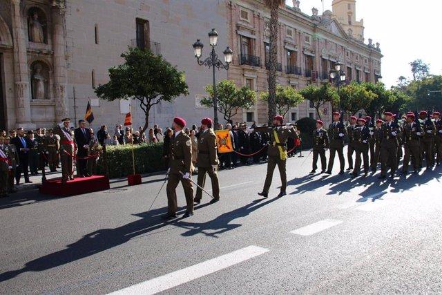 Desfile de la Pascua Militar en Valencia
