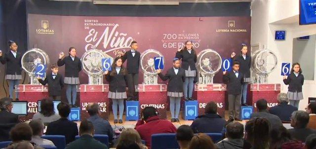 Tercer premio del sorteo del Niño de 2020.