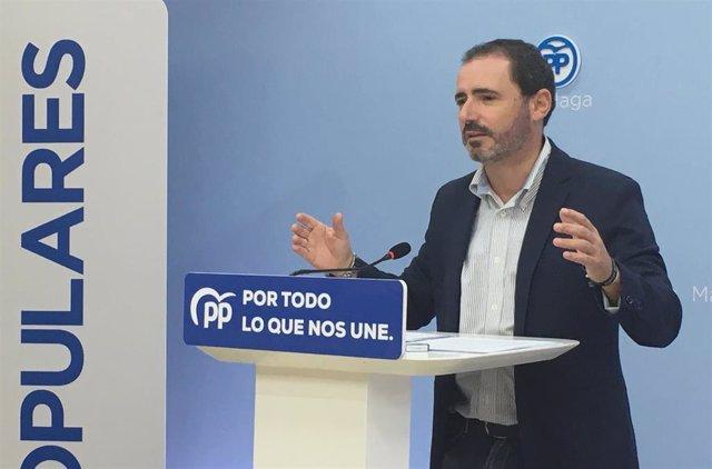 El coordinador general del PP de Málaga y parlamentario andaluz, José Ramón Carmona,