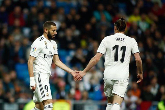 Benzema y Bale jugando con el Real Madrid
